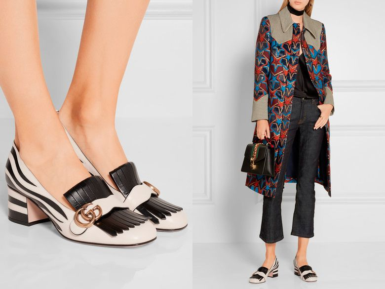 Туфли черные узоры